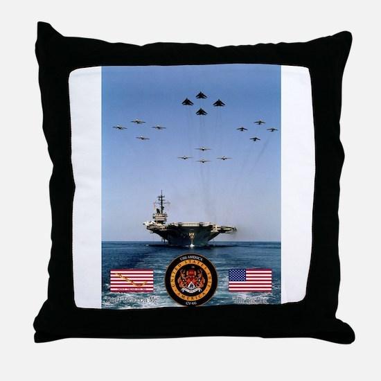USS America CV-66 Throw Pillow