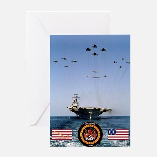 USS America CV-66 Greeting Card