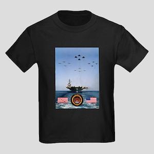 USS America CV-66 Kids Dark T-Shirt
