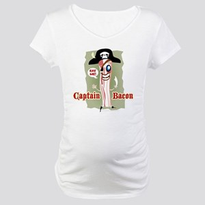 Captain Bacon Pirate Maternity T-Shirt