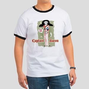 Captain Bacon Pirate Ringer T
