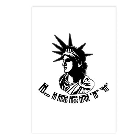 Black White Statue of Liberty Postcards (Package o