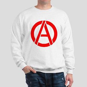 Anarchy Symbol Stencil Sweatshirt