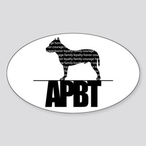 APBT Oval Sticker