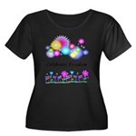 Celebrat Women's Plus Size Scoop Neck Dark T-Shirt