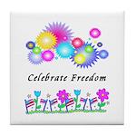 Celebrate Freedom Tile Coaster
