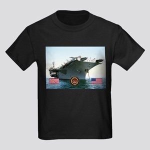 USS America CV-66 Kids Dark T-Shirt