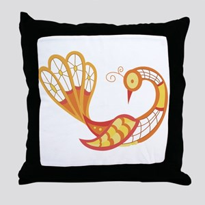 Lace Peacock Throw Pillow