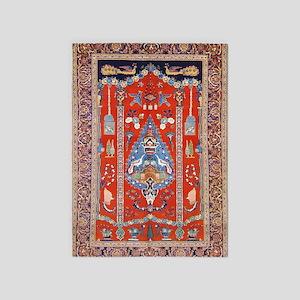 Persian Kashan Rug 5'x7'area Rug