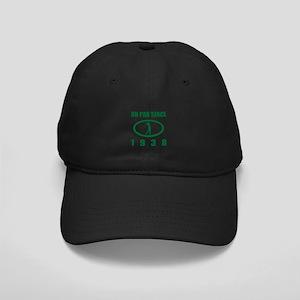 1938 Birthday Golf Humor Black Cap with Patch