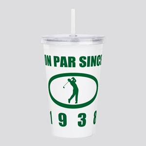 1938 Birthday Golf Hum Acrylic Double-wall Tumbler