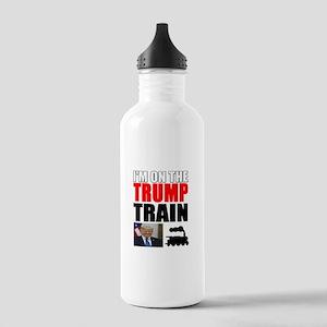 Im On The Trump Train Water Bottle