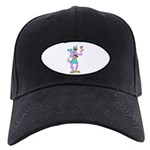 Sabra Dog 2 Logo Baseball Hat Black Cap With Patch
