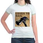 Loves To Nail Jr. Ringer T-Shirt