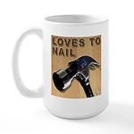 Loves To Nail Large Mug