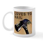 Loves To Nail Mug