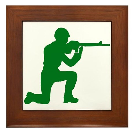 Kneeling Toy Soldier Framed Tile