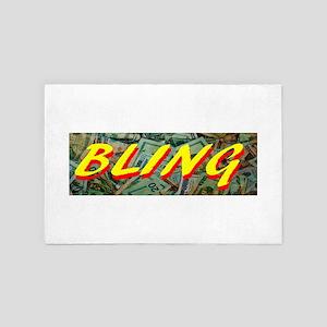 Money Bling 4' x 6' Rug