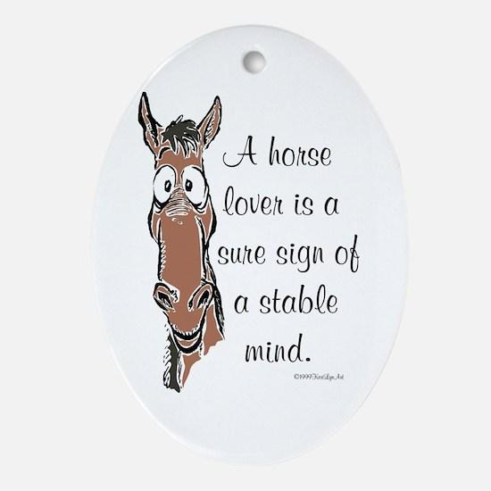 Horse Lover Keepsake (Oval)