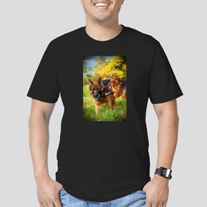Red and Black Long Haired German Shepherd T-Shirt