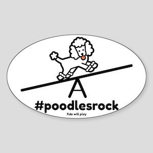 Poodles Rock Sticker