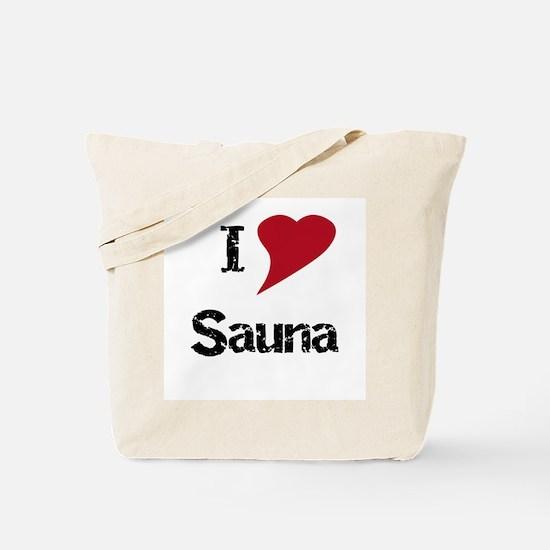 I Love Sauna Tote Bag