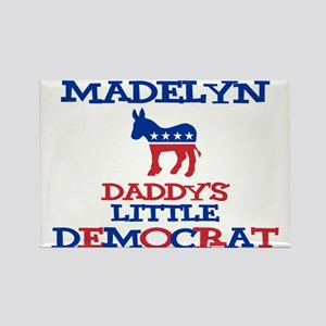 Madelyn - Daddy's Democrat Rectangle Magnet
