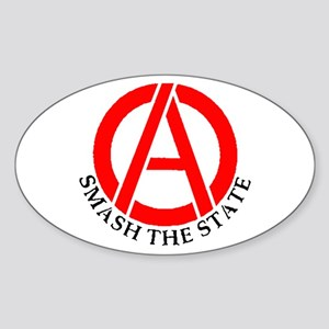 Smash the State Oval Sticker