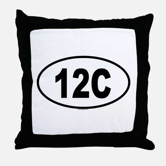 12C Throw Pillow