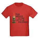 Say Hello to my Little Friend Kids Dark T-Shirt