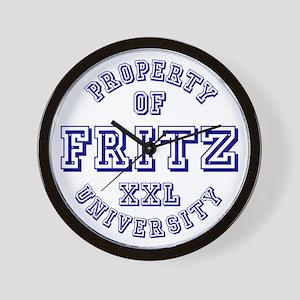 Property of Fritz XXL University Wall Clock