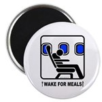 WAKE For MEALS! Magnet