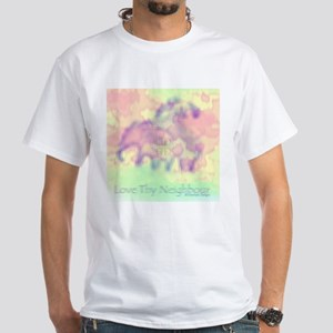 Neighborly Elephants (by Deleriyes) White T-Shirt