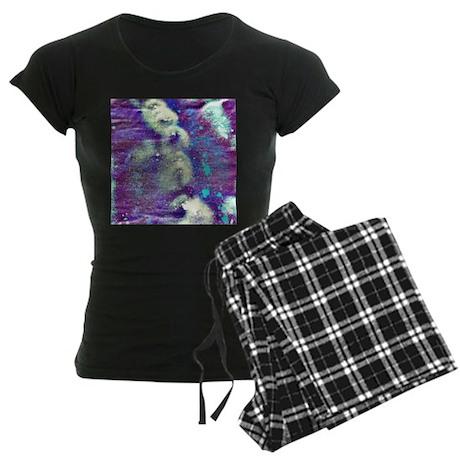 purple white abstract Pajamas