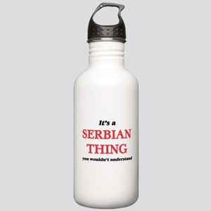 It's a Serbian thi Stainless Water Bottle 1.0L
