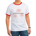Usa July 4th Fireworks Ringer T T-Shirt