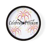 USA July 4th Fireworks Wall Clock