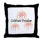 USA July 4th Fireworks Throw Pillow