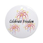 USA July 4th Fireworks Ornament (Round)