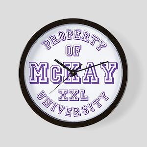 Property of McKay XXL University Wall Clock
