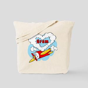 Love Gram Cute Airplane Tote Bag