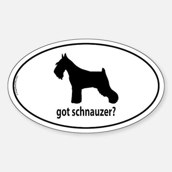 Got Schnauzer? Oval Decal
