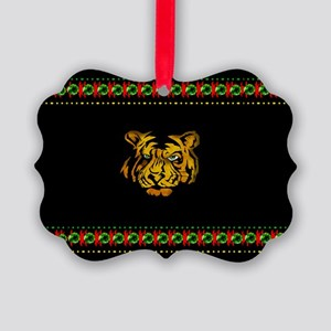 Tiger In Darkness Picture Ornament