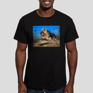 Red Black Long Haired German Shepherd Pupp T-Shirt