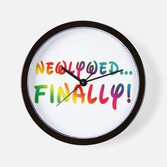 Newlywed Finally! Gay Marriage Wall Clock