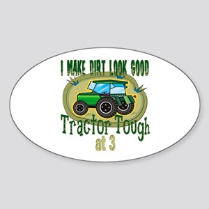 Tractor Tough 3rd Oval Sticker