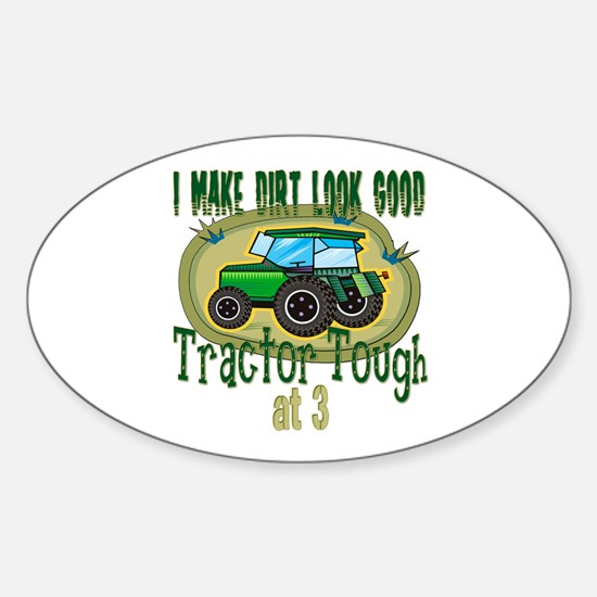 Tractor Tough 3rd Oval Decal