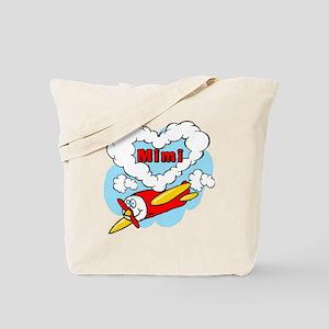 Love Mimi Cute Airplane Tote Bag