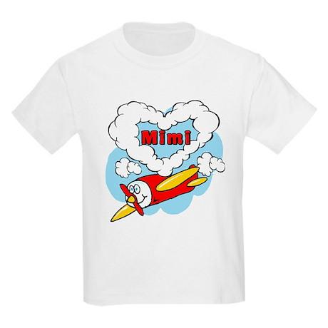 Love Mimi Cute Airplane Kids Light T-Shirt