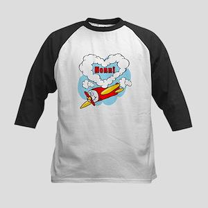 Love Nonni Cute Airplane Kids Baseball Jersey